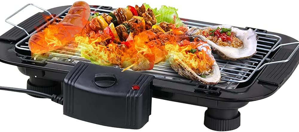 VVlight Over item handling Electric Barbecue Grill Smokefree 5 BBQ Table Adju Low price Gears