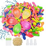 Huahuanghui 1000 Globos de Agua para Fiesta Water Balloons de Colores Látex Water Balloons para Fiesta al Aire Libre Jardin Juguete de Diversion para Playa,Multicolores