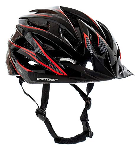 Sport Direct Fahrradhelm für Herren, Graphit, 58–61 cm, 24 Belüftungsöffnungen, CE EN1078:2012+A1:2012