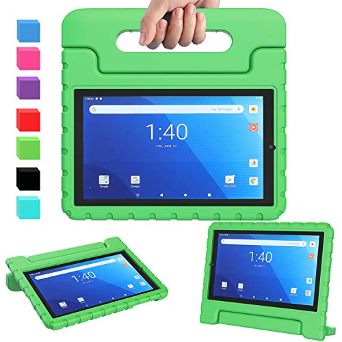 """AVAWO for Walmart Onn 8"""" Pro Kids Case 2020 ( 100003561 ), Light Weight Shock Proof Convertible Handle Stand Kids Friendly Case for Onn 8inch Pro Android Tablet ( JUST Fit Onn 8 Pro 2020), Green"""