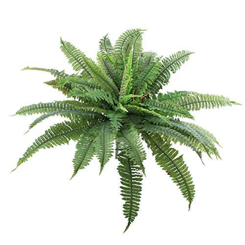 artplants.de Helecho Espada Artificial Samuel con 50 Hojas, Verde, Ø 90cm, 60cm - Planta de imitación - decoración