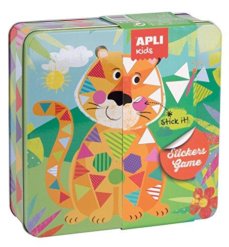 APLI Kids - Caja metálica con juego de gomets Tigre , color/modelo surtido