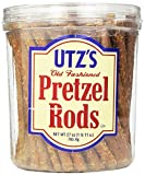 Utz Old Fashioned Pretzel Rods – 27 oz. Barrel – Thick, Crunchy Pretzel Rod, Perfect for Dipping...