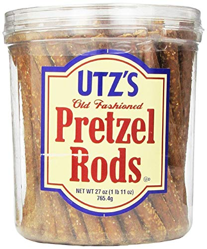 Utz Old Fashioned Pretzel Rods – 27 oz. Barrel – Thick, Crunchy Pretzel Rod, Perfect for Dipping and Snacks, Zero Cholesterol Snack Food (Best Way To Frost Cupcakes With Store Bought Frosting)