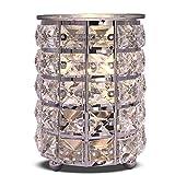 Crystal Cylinder Wax Melt Warmer Electric Wax Burner Melter Fragrance Warmer for Home Office Bedroom Living Room Gifts & Decor
