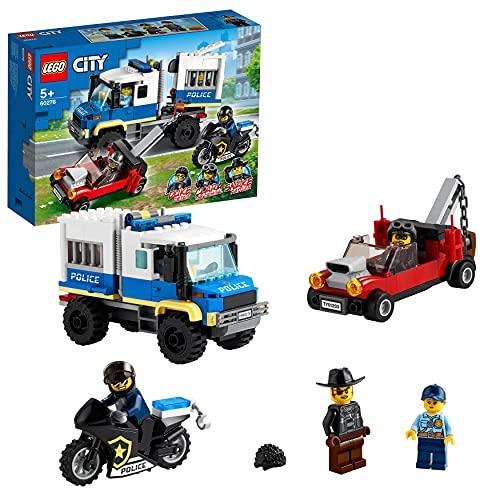 LEGO60276CityTransportedePrisionerosdePolicía,JuguetedeRemolque,SetdeExpansióndeEstacióndePolicía