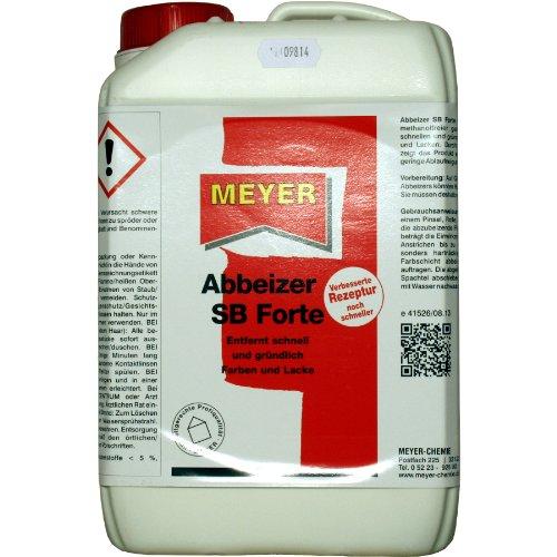 Abbeizer, Entlacker, Lacklöser, Lösungsmittel, 3 Liter Gebinde, Meyer SB Forte