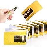 Ealicere 120 Pezzi Rotolo Cartine Oro Extension model Cartine Ricostruzione Unghie per Unghie Ricostruzione Fai da te Allungamento Unghie professional UV gel nail