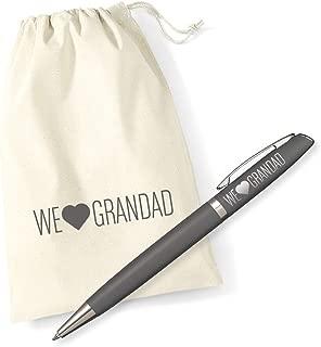 Grandad Gift Laser Engraved Metal Pen with Bag for Birthday We Love Grandad