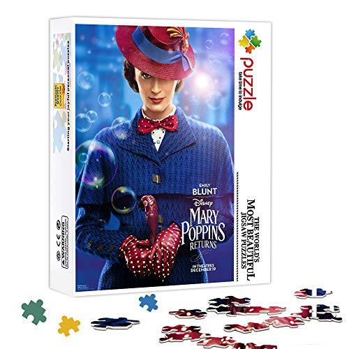 KKASD Puzzle 300 Pezzi per Adulti Il Ritorno di Mary Poppins : Puzzle di Mary Poppins Puzzle impegnativo e Giochi per Famiglie Jigsaw 38x26cm