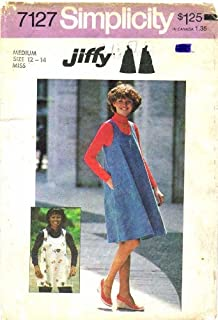Simplicity 7127 Sewing Pattern Misses Short Jumper or Top Size 12 - 14