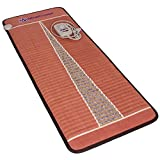 Far Infrared Amethyst Mat Midsize (59'L x 24'W) - Negative Ion - FIR Therapy - Natural Amethyst - FDA Registered Manufacturer - Adjustable Temperature Setting - Hot Crystal Heating Pad - Reddish Brown