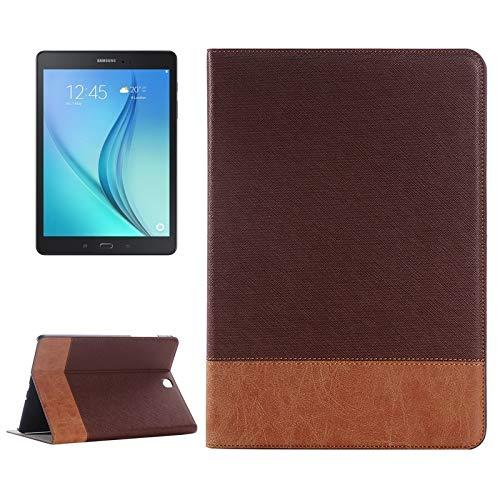 Zhangl Fundas para tabletas Galaxy Funda de Cuero Cruz Textura con Soporte y Ranuras for Tarjetas y Billetera for Samsung Galaxy Tab A 9.7 4G LTE / T555 Fundas para tabletas Galaxy (Color : Brown)