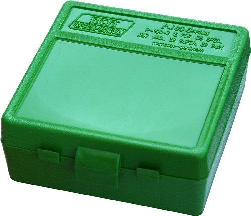 MTM Plastic Ammo Box, Green 100 Round 38 357 (4)