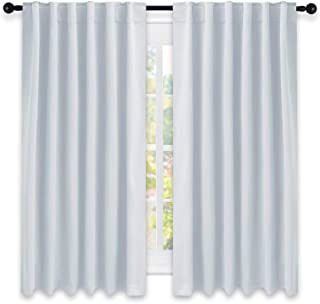 NICETOWN Insulated Room Darkening Curtain Panels - (Greyish White Color) W52 x L63, 2 Pieces, Room Darkening Window Treatment Drape Panel