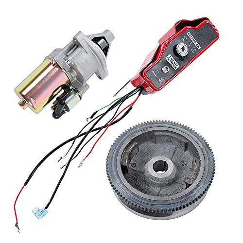 LIUTT Juego de Arranque eléctrico-Kit de Arranque eléctrico Caja de Interruptor de Control del Volante del Motor de Arranque para GX390