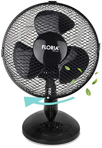 Tischventilator Ø30 cm 35 Watt | Ventilator | Rotation zuschaltbar | oszillierend | leiser Betrieb | Luftkühler | Windmaschine | geeignet für Büro, Schlafzimmer, Wohnzimmer |