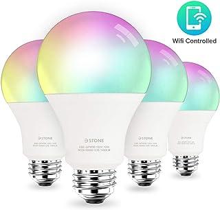 چراغ هوشمند LED لامپ A21 توسط 3Stone ، E27 WiFi برنامه کنترل شده UL ذکر شده ، Dimmable White و RGB Colors 100W Equivalent ، کامل با دستیار IFTTT دستیار Google Alexa (4 بسته)