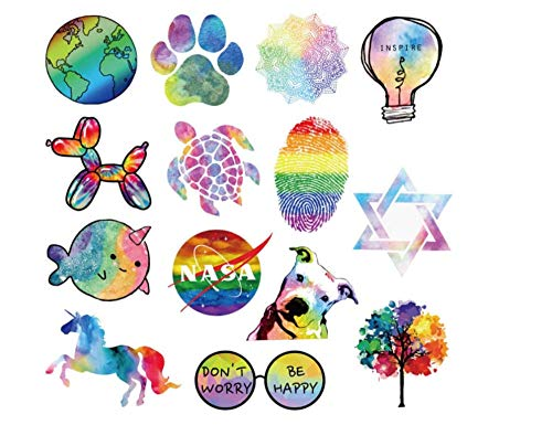 votgl stickers set Getij Merk Regenboog Graffiti Stickers Voor Koelkast Laptop Skateboard Motorfiets Bagage Huis Decoratie Stickers 50 Stks/