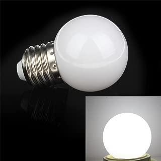 Kingnew 1W E27 mini LED Golf Ball Bulb Globe Light Single Color LED Light Globe Lamp Bulb DIY (White)