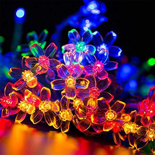 Flor LED cadena luces Plug In / control remoto, a prueba de agua flor de cerezo de la luz con 8 fiesta de la boda Modos jardín Patio del césped de Navidad al aire libre de interior,Vistoso,6M 40lights