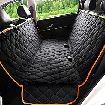 Kytely Upgraded Dog Car Seat Cover Pet Seat Covers for Back Seat Scratch Proof & Nonslip Backing & Hammock 600D Heavy Duty Dog Seat Cover for Cars Trucks and Suvs