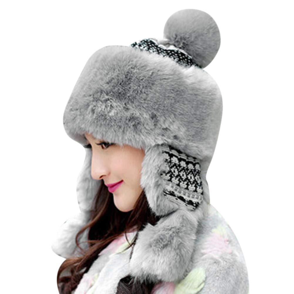 Seasonal Wrap Introduction Winter Warm Hat Women Bomber Plu shopping Thick Trapper Flaps Ear