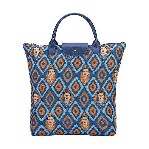 Signare Gobelin-Einkaufstasche, faltbar, wiederverwendbar, mexikanisches Design (Frida Icon; FDAW-FKICON)