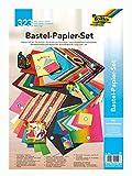folia 940 - Bastelpapier - Set Ganzjahr, 323 Teile - Kreativset für Kinder und Erwachsene mit verschiedenen Bastelmaterialien