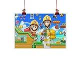 Arte minimalista de pared Super Mario como un regalo de Mario y Luigi juego escena de vídeo juego sin marco 61 x 45 cm