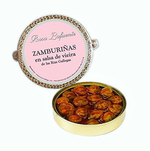 Zamburiñas en Salsa de Vieira 'Rosa Lafuente' - De las Rías Gallegas - Elaboración tradicional - Producto del Mar 100% Natural y Artesanal