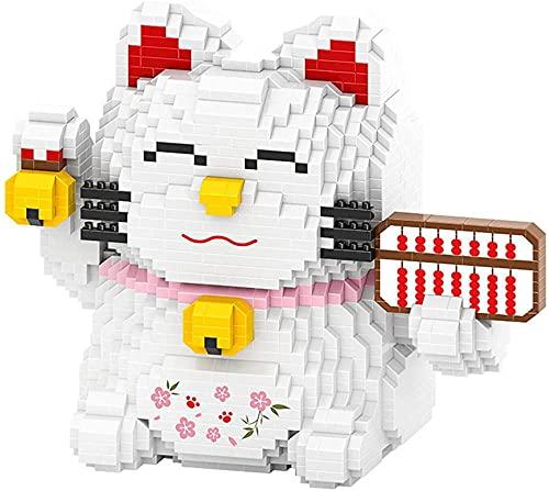 Bâtiment BAIDEFENG Micro Building Blocks Lucky Cat Fortune Abacus taxe Argent Jeu Jouet Animal Brique Bricolage 3D Mexique Jouets Cadeaux pour Les Enfants Adultes A-B