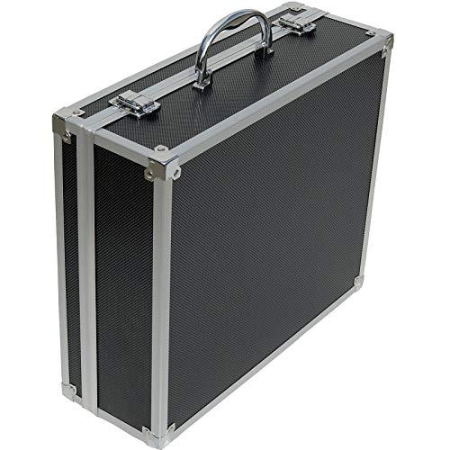 ECI® Aluminium Koffer Schwarz mit Würfelschaum LxBxH 350 x 300 x120 mm Leer-Koffer Alukoffer Alu Box