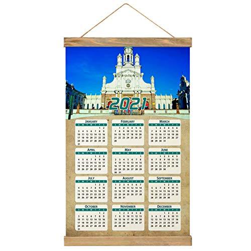 "Ecuador Imprimir Póster Calendario de Pared 2021 12 Meses Pintura decorativa Cuadros Colgantes Lienzo Madera 20.4 ""x 13.1"" GL-Ecuador-1592"