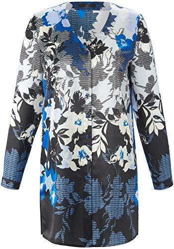 EMILIA LAY Damen Langarmbluse Bluse mit Knopfleiste