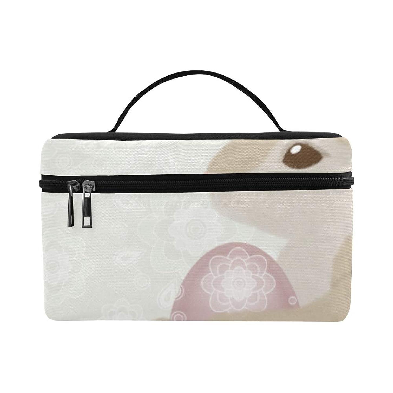 スカルク手がかりキャンペーンGXMAN メイクボックス コスメ収納 化粧品収納ケース 大容量 収納ボックス 化粧品入れ 化粧バッグ 旅行用 メイクブラシバッグ 化粧箱 持ち運び便利 プロ用 ピンクのウサギ