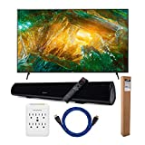 Sony XBR-X800H 85-Inch LED 4K Ultra HD HDR Smart TV with Knox Gear Wireless Bluetooth Soundbar with Mounting Bracket, Nylon-Braided 4K HDMI Cable, and 6 Outlet Slim Surge Protector Bundle (5 Items)