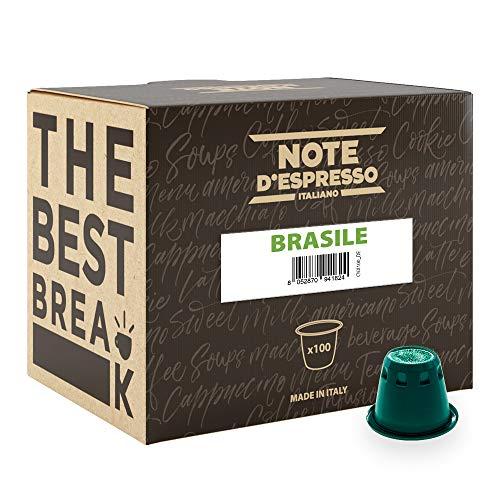Note D'Espresso - Kapselmaschinen - ausschließlich Kompatibel mit Nespresso*- Brasile - 5,6g x 100