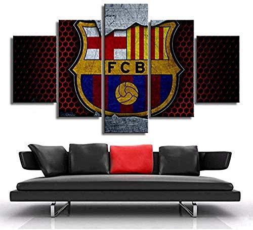 LSDAMN Pinturas en Lienzo Arte de la Pared Barcelona Fútbol Club Bandera...
