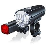 aplic - Set de Faros LED | Modelo DG330 | LED Claro (30 Lux) | Faros para Bicicleta/Set de iluminación para Bicicletas, Incl. luz Delantera y Trasera