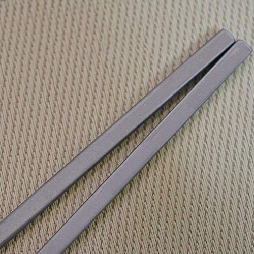 箸チタン18cm中実の角箸お弁当はしアウトドアカトラリー携帯用登山キャンプ用品軽量便利収納袋付き