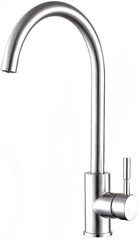 YKKFC Küchenarmatur waschbecken Wasserhahn, drehbare waschbecken Wasserhahn, 304 Edelstahl qualitt, sitzend