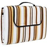 TecTake Colchón manta de picnic viaje camping 200x150cm fondo hidrófugo enrollable - disponible en diferentes colores y cantidades - (Beige marrón | no. 401597)