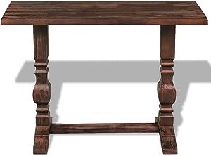 binzhoueushopping tavolino, tavolino da Salotto di piedistallo in Legno massello Riciclato 100x 40x 75cm, Multifunzione Tavolo