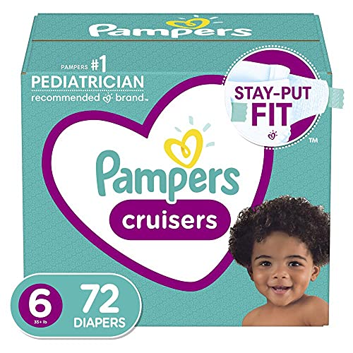 Pampers Cruisers - Pañales Etapa 6, 72 Piezas. Para bebés de 16+ Kg.