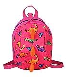 Zaino per bambini dinosauro,Zaino per bambini anti-perso, Zaino per bambini per scuola, zaino simpatico cartone animato per bambini e bambine (rosa)