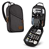 Camp <span class='highlight'><span class='highlight'>Kit</span>chen</span> Cooking Utensil Set Travel Organizer <span class='highlight'>Grill</span> <span class='highlight'>Accessories</span> Portable Compact Gear for Backpacking <span class='highlight'>BBQ</span> Camping Hiking Travel Cookware <span class='highlight'>Kit</span> Water Resistant Case