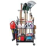 Mythinglogic Garden Tool Organizer for Garage-Yard Tool Racks with Wheels,Garage Organizers and...