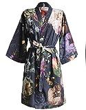 ESSENZA Kimono Fleur Blumen Pfingstrosen Tulpen Baumwollsatin Nightblue, S