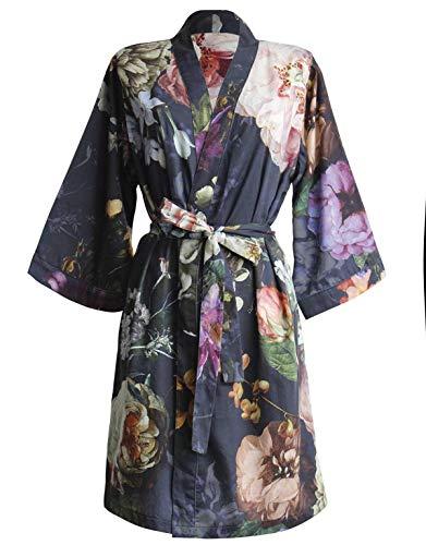 Essenza Satin-Kimono Fleur Größe l, Farbe Nightblue, L = 40, Nightblue